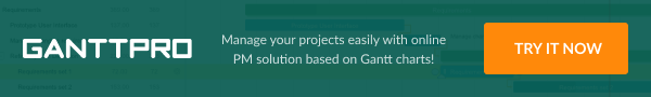 gantt project planner for game development projects