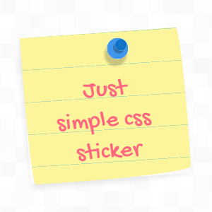 Nice sticker made using CSS3 rules