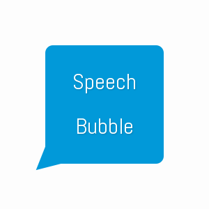 Speech bubble made using only CSS3