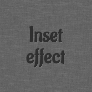 Inset text effect made with CSS3 text shadow