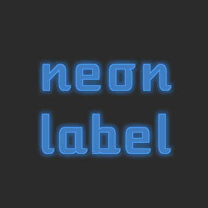neon text effect with css3 text shadows