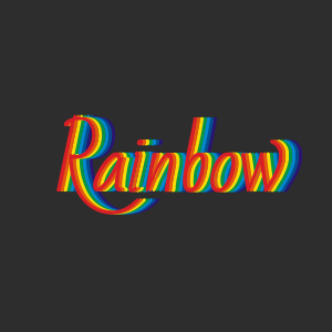 Rainbow text effect made with pure CSS3