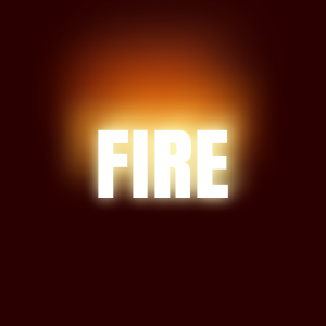 Burning fire effect only with CSS3
