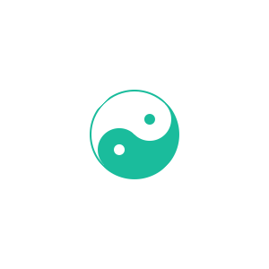 Yin yang sign made fully with CSS3