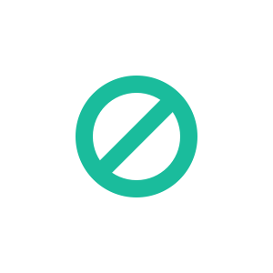 Forbidden sign shape created with CSS3 border