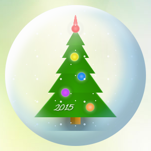 Gradient based new year tree made with single div