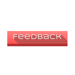 Red flat feedback CSS3 button with hover and active states