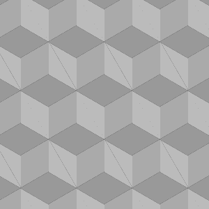 3D cube-sg gradient pattern made with CSS3