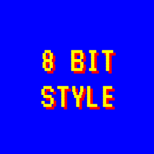 Dandy 8 bit style only with CSS3 rules